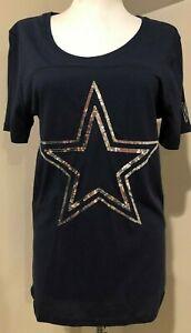 VICTORIAS SECRET PINK Womens DALLAS COWBOYS Shirt Top NWT - Sz Large