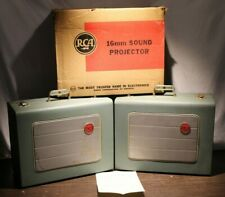 2 Two Vintage RCA MI-35014 16mm Loudspeakers MI-38319-A 1 with box and LOC