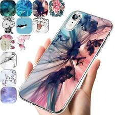 Handy Case für Apple iPhone XR Hülle Silikon Muster Schutz Cover TPU Handyhülle