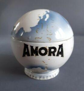 Pot À Moutarde Amora Mappemonde / globe terrestre Faience De Digoin