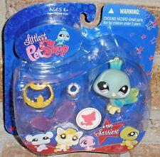Littlest Pet Shop blue green PEACOCK 985 VHTF 2008 tiara necklace