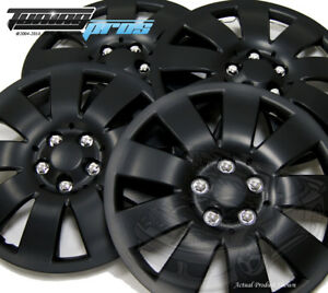 """Snap-On Hubcap 17"""" Inch Wheel Rim Skin Cover 4pcs Matte Black - 17 Inches #721"""