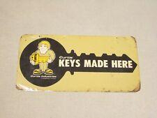 "Keys Made Locksmith 12/""x6/"" Laminated Sign Window Business Sticker"