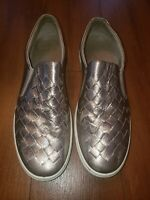 Ecco Soft 7 Woven warm gray metallic Slip-On Sneaker Wmn 42 EU /11 US
