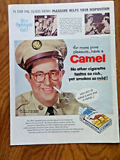 1956 Camel Cigarette Ad Movie Hollywood Star Phil Silvers as Sgt Bilko