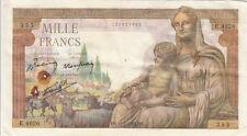 Billet banque DEMETER 1000 F 11-02-1943 MS E.4026 état voir scan trous d'épingle