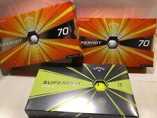 2 15-Pack Callaway Superhot 70 golf balls + 1 Superhot 15; 45 Golf Balls Total