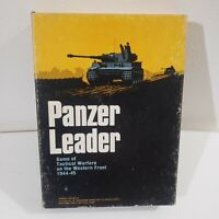 (60% Complete) Vtg 1974 Panzer Leader Avalon Hill Bookcase Game