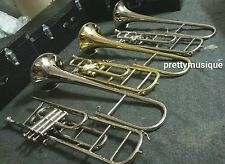 TROMBONE VALVE OF PURE BRASS METAL+ CASE + MOUTHPC + FREE SHIPPING + ANY ONE PC