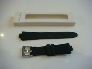 Christian Dior Watch Strap Band Buckle 18mm Black Rubber ABC2600BW