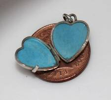 VINTAGE STERLING SILVER DELICATE ETCHED HEART PHOTO LOCKET PENDANT / CHARM /W535