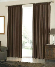 """LUXURIOUS COTTON SATIN FINISH CURTAINS ,in CHOCOLATE BROWN LINED  66""""X90"""" #6197"""