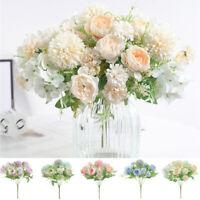 Silk Peony Artificial Fake Flowers Bunch Bouquet Home Wedding Garden Decor