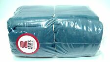 PACK OF 100 BRAND NEW TEAL BLUE SHOP TOWELS FOR INDUSTRIAL USE (100% COTTON!)