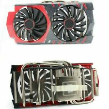 For MSI GTX960 Red Dragon RX470/480/580 Heat Pipe Graphics Card Cooler Fan 4Pin