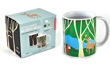Kikkerland Woodland Animal Morph Ceramic Mug Heat Changing Mugs Coffee Tea Cup