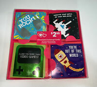 2-D Space Valentines & Envelopes 16 Classroom Exchange Cards 4 Designs