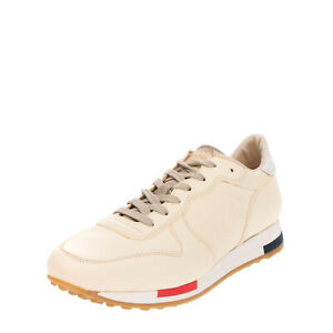RRP €125 CAFENOIR Leather Sneakers Size 41 UK 8 US 11 Debossed Stars Logo Patch