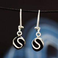 Onyx Silber 925 Ohrringe Damen Schmuck Sterlingsilber H0180