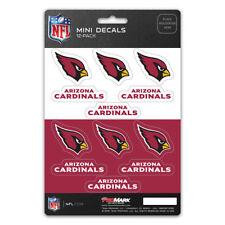 New NFL Arizona Cardinals Die-Cut Premium Vinyl Mini Decal / Sticker Pack