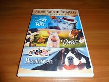 Cat In The Hat/Babe/Beethoven  (DVD, 2007 Full Frame 2-Disc) NEW