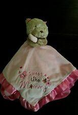 """Baby Starters Girl's Bubblegum Pink  """"Sweet Like Mommy"""" Lovey  Bear Plush Rattle"""
