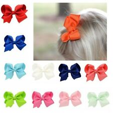 3 INCH BIG BOWS BOUTIQUE HAIR CLIP PIN ALLIGATOR CLIPS GROSGRAIN RIBBON BOW GIRL