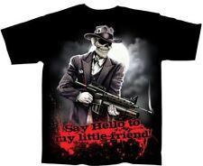NEW Say Hello To My Little Friend Gangster Gun Gildan Black T Shirt- 3XLarge