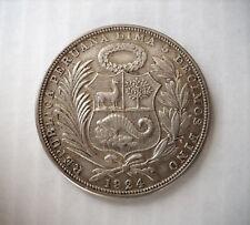 1 SOL PERU' 1924 - ARGENTO .500 - PERU SILVER 5/10