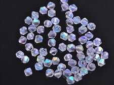 200x Wholesale 3mm Bicone Faceted Crystal Glass Loose Spacer Beads Half AB