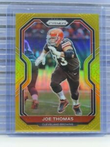 2020 Prizm Joe Thomas Gold Prizms #06/10 Browns S64