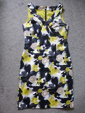 H&M Kleid Etuikleid schwarz weiß gelb beige NEU Gr. 42 40