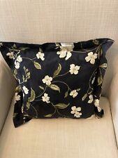 Black Floral Decorative Pillow 10x10