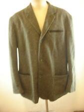 Mens 46L Luciano Barbera sz 56 Green Tweed Jacket Blazer Wool Camel Hair Cotton