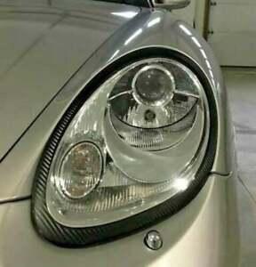 Porsche Cayman 987 Headlight BLACKOUT Precut Trim Rings Eyelids Vinyl Decals
