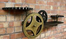 Industrial Pipe Floating Wall Shelf Vintage Storage Bookcase Shelving Unit Gear