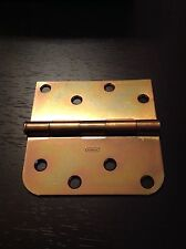 "STANLEY door hinge 08-1202 swing in 4"" brass plated + screws"