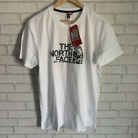 BNWT NEW The North Face Medium Mens T-shirt White With Black Logo