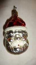 Retired Inge Glas Santa Head Red Hat Ornament Old World Christmas Germany
