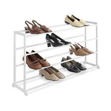 4-Tier Shoe Stand Storage Footstool Bench Rack Floor Entryway Organizer - White
