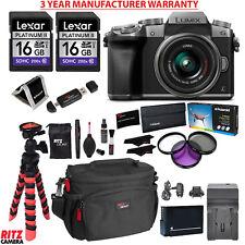 Panasonic LUMIX DMC-G7 DSLM 4K Camera (Silver) 14-42 Lens MANUFACTURER WARRANTY