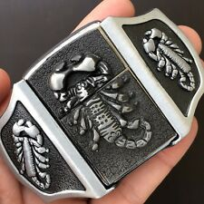 Scorpion Belt Buckle Silver 3D Removable Lighter High Quality Cowboy Men