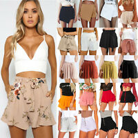 Fashion Women's Ladies Summer High Waist Casual Beach Hot Pants Shorts Culottes