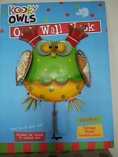 Kooky Owls Large Hand Made Metal Owl Wall Hook Indoor or Outdoor Wall Art