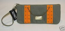 "XOXO ""Boot Camp"" Olive & Orange Wristlet #70047 NWT"