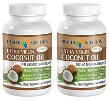 Coconut Oil Extra Virgin 3000mg Medium Chain Fatty Acids (2 Bottle 120 Softgels)