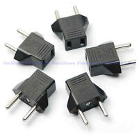 US Europe AC Wall Socket Plug Travel Charger Power Converter Adapter 5Pcs