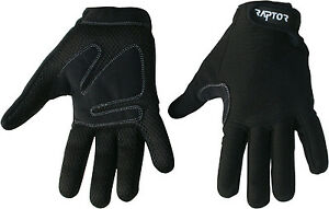Raptor Full Fingered Padded Cycling/Bike/Cycle/MTB/Bike Gloves. XS/S/M/L/XL/XXL