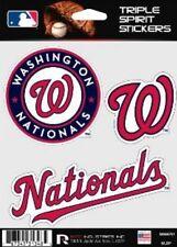 Washington Nationals Die Cut Decals 3 Pack Car Window, Laptop, Tumbler MLB, Rico