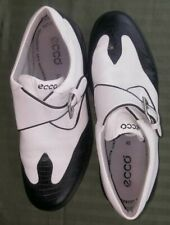 Ecco Cleated Womens Golf Shoes Sz 40 White/Black Pristine Condition